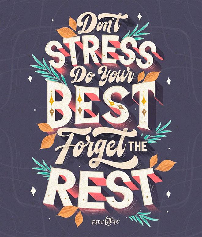 Don't Stress by Sasbu Letters
