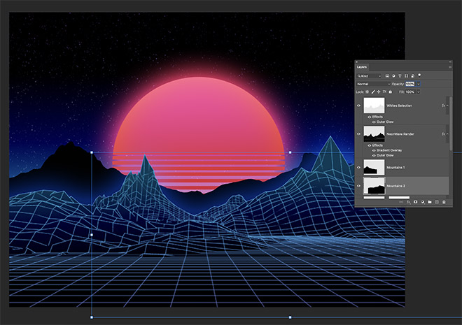 How to Easily Create Retro Landscapes with an 80s Aesthetic 14