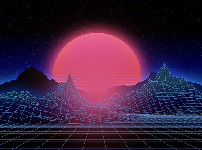 How to Easily Create Retro Landscapes with an 80s Aesthetic 16