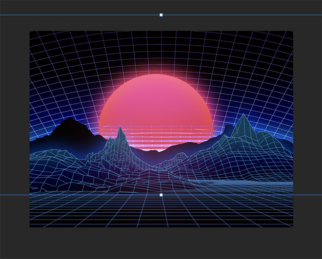 How to Easily Create Retro Landscapes with an 80s Aesthetic 18
