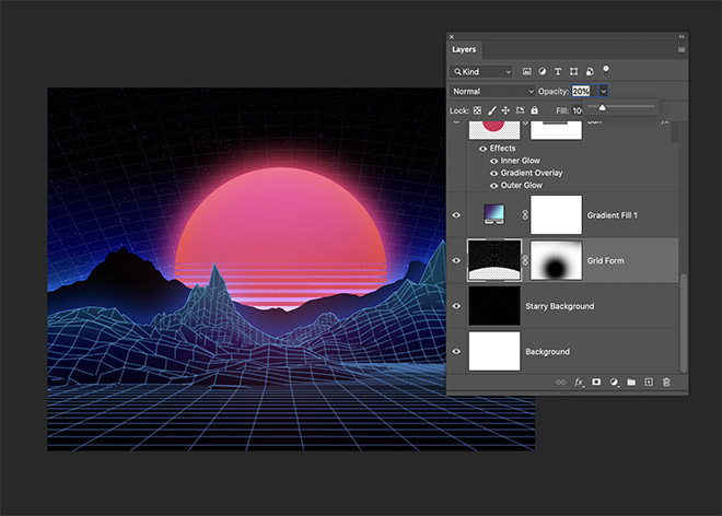 How to Easily Create Retro Landscapes with an 80s Aesthetic 19