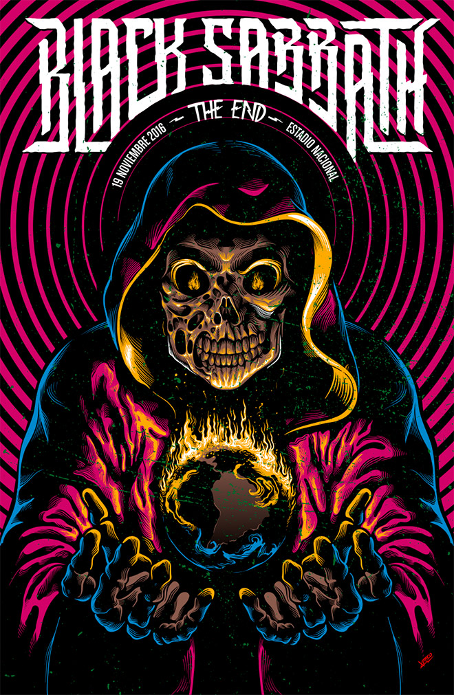 Black Sabbath The End Tour Poster by Marco Villar