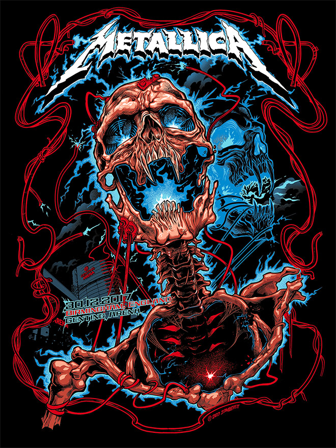 Metallica gig poster from Zombie Yeti