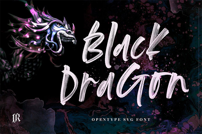 Black Dragon SVG Font by Ivan Rosenberg