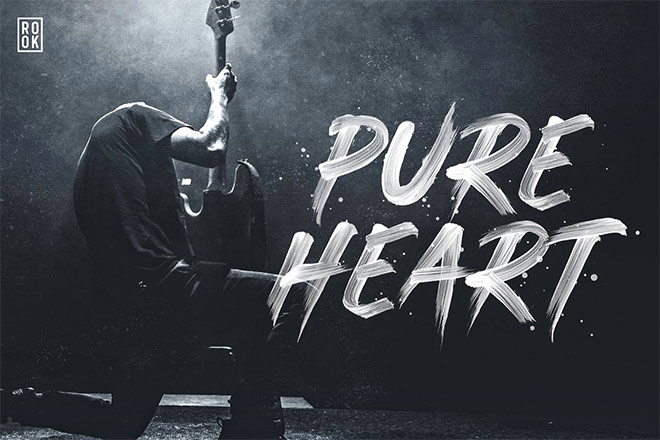 Pure Heart - OpenType SVG Brush Font by Greg Nicholls