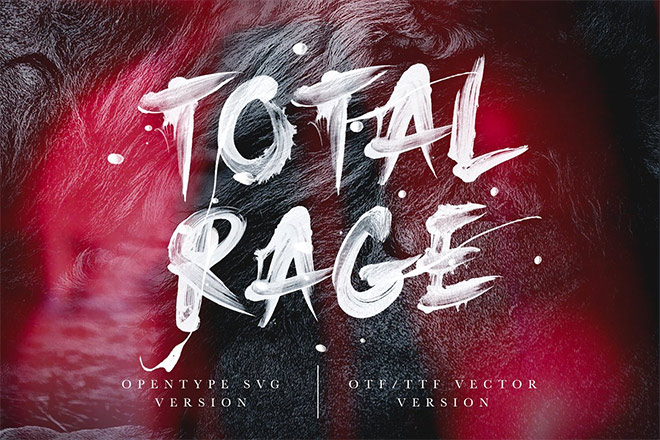 Total Rage - Brush SVG Font by Greg Nicholls