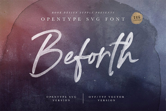 Beforth - OpenType SVG Font by Greg Nicholls