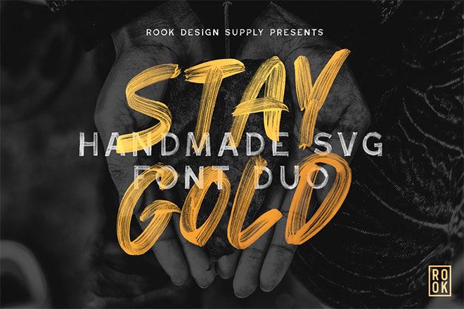 Stay Gold SVG Font Duo by Greg Nicholls