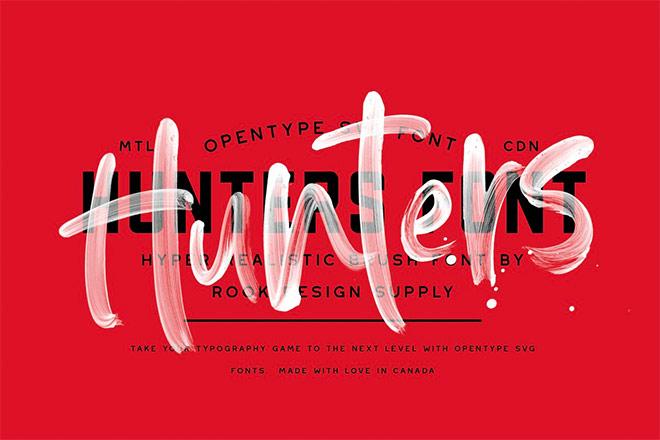 Hunters Opentype SVG Font by Greg Nicholls