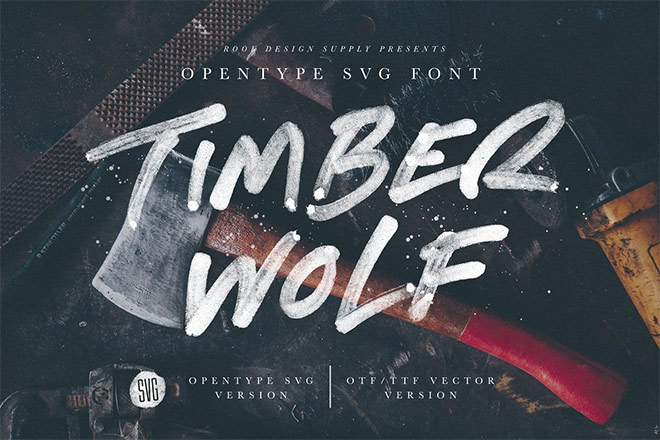 Timber Wolf - Opentype SVG Font by Greg Nicholls