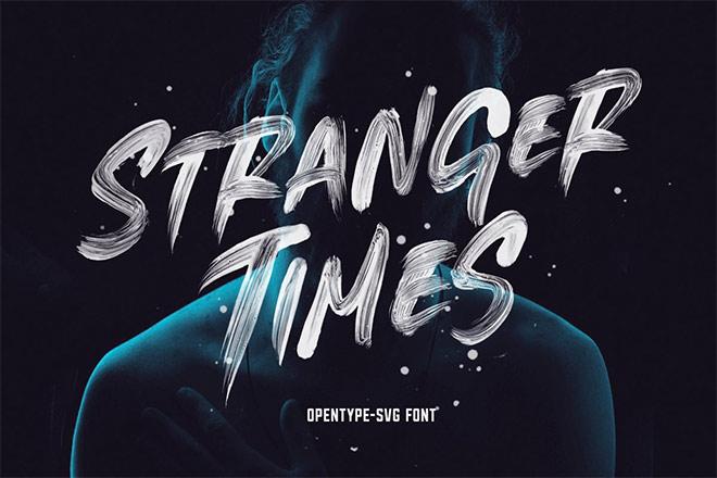 Stranger Times - OpenType SVG Font by Greg Nicholls