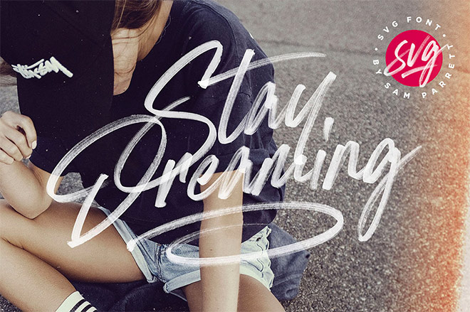 Stay Dreaming SVG Font Set Sail Studios