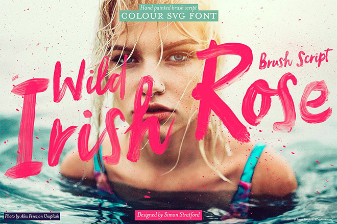 Wild Irish Rose brush script font by Itsmesimon