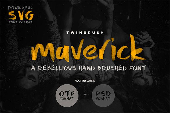 Maverick Font by Twinbrush