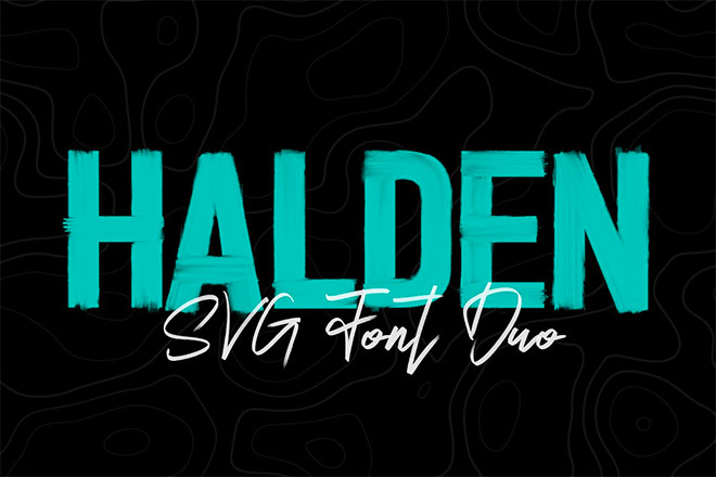 Halden - Hand Brushed SVG Font Duo by Surplus Type Co