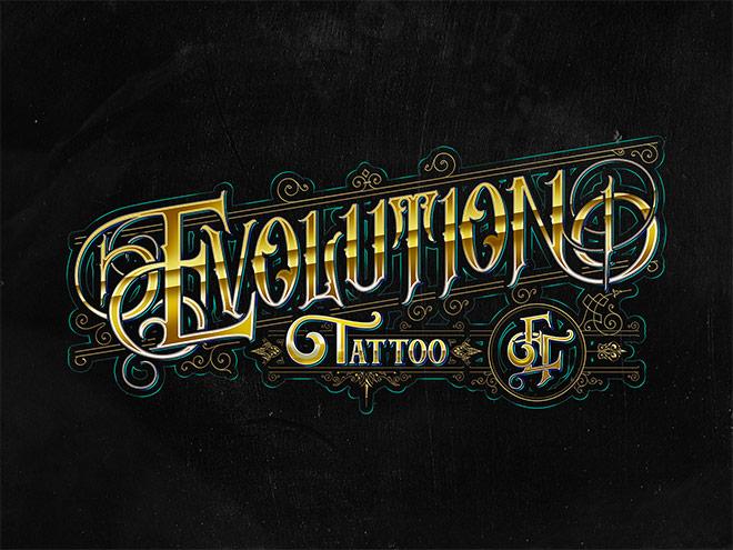 Evolution Tattoo Logo by Visual Fear