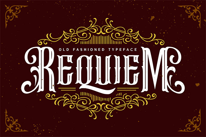 Requiem Old Fashioned Typeface
