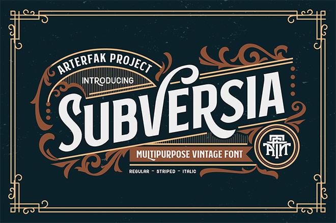 Subversia Multipurpose Vintage Font