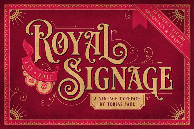 Royal Signage Vintage Typeface