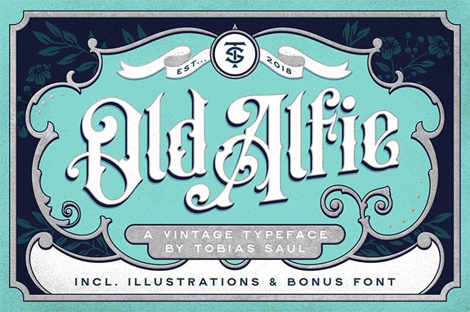 Old Alfie Vintage Font Duo