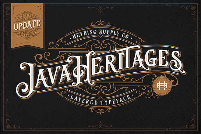 Java Heritages Layered Typefaces + Extras