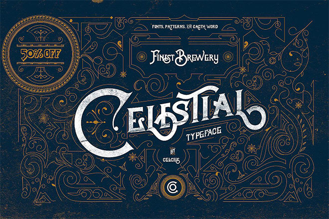 Celestial Victorian Typeface