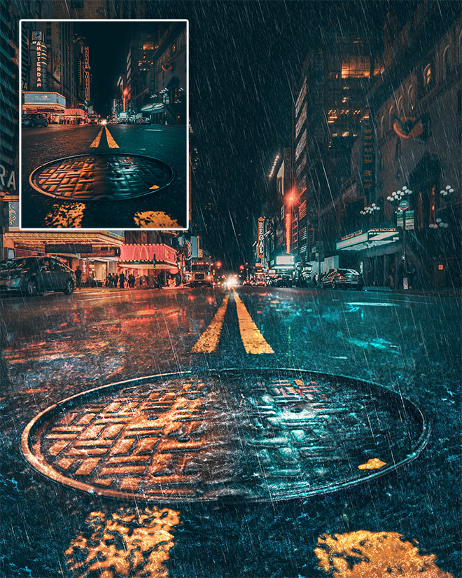 Rain Effect Photoshop Tutorial