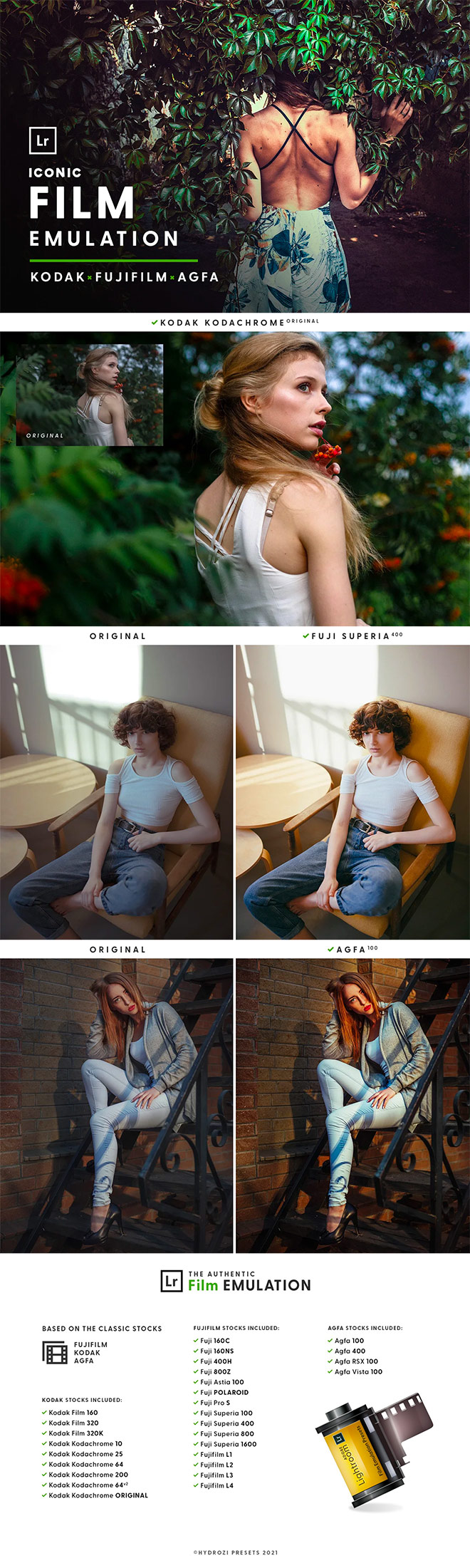 Film Emulation Lightroom Presets for Premium Members
