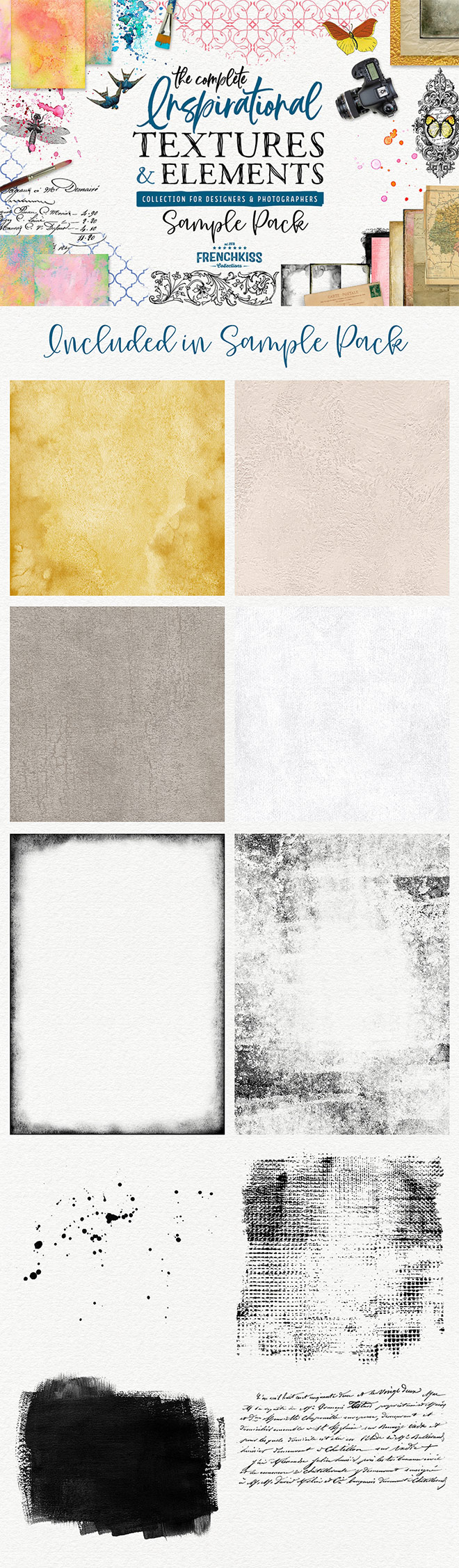 included in sample pack - 10 Assets from the Inspirational Textures & Elements Collection