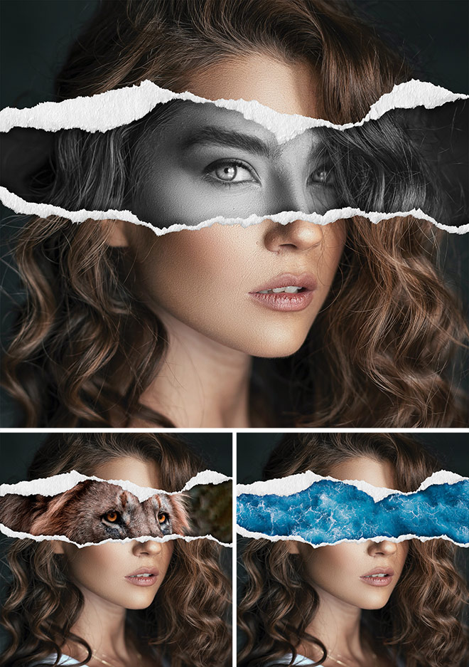 Beginner Photoshop Tutorial: Torn Paper Collage Effect