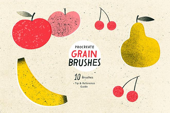 Grain Brush Set for Procreate