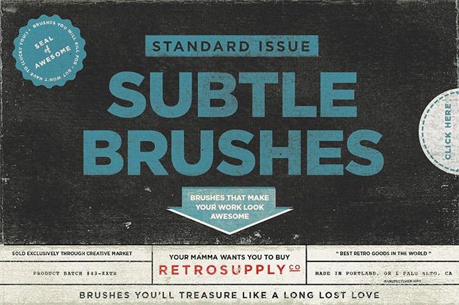STANDARD ISSUE SUBTLE BRUSH KIT FOR ADOBE PHOTOSHO