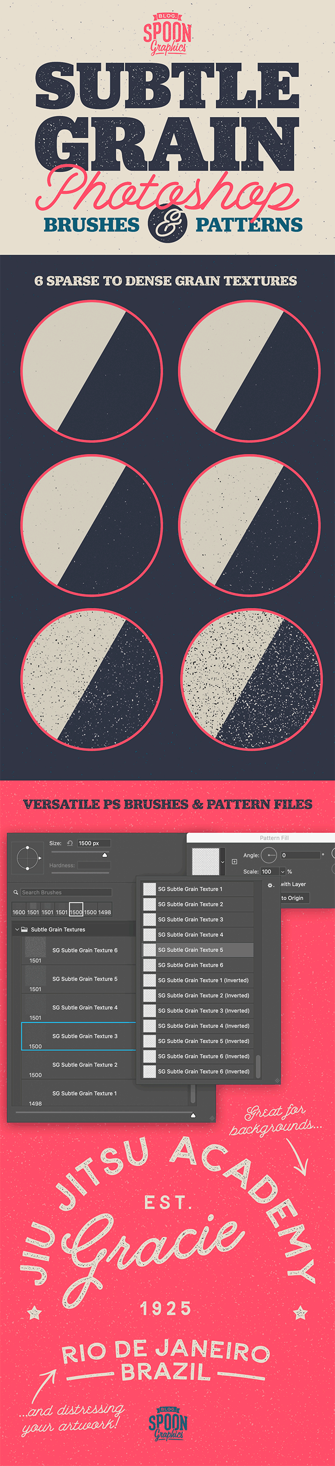 Free Subtle Grain Photoshop Brushes and Patterns
