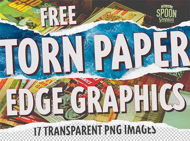 Download My Free Torn Paper Edge Graphics to Create Realistic Collage Effects