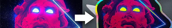 Video Tutorial: How to Design a Holographic Sticker Using Photoshop & Illustrator