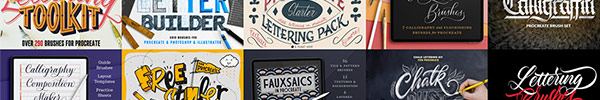 Enjoy Up to 50% off Procreate Lettering Tools, Plus Free Lessons on How To Use them!