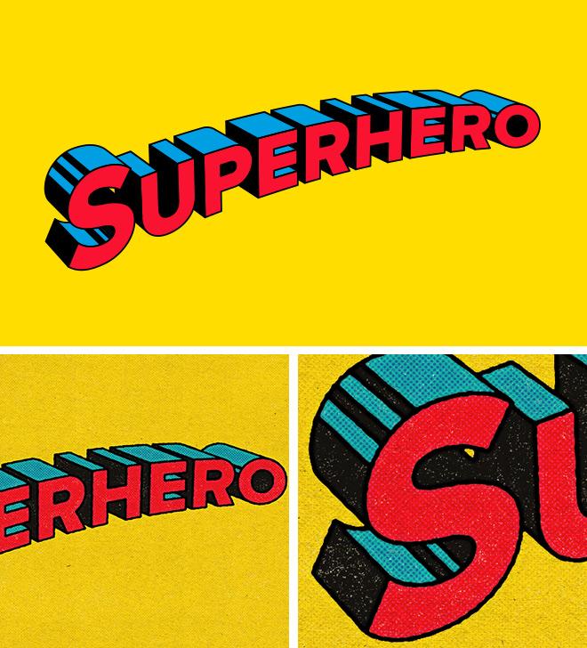 How to Create a Retro Superhero Comic Text Effect in Illustrator