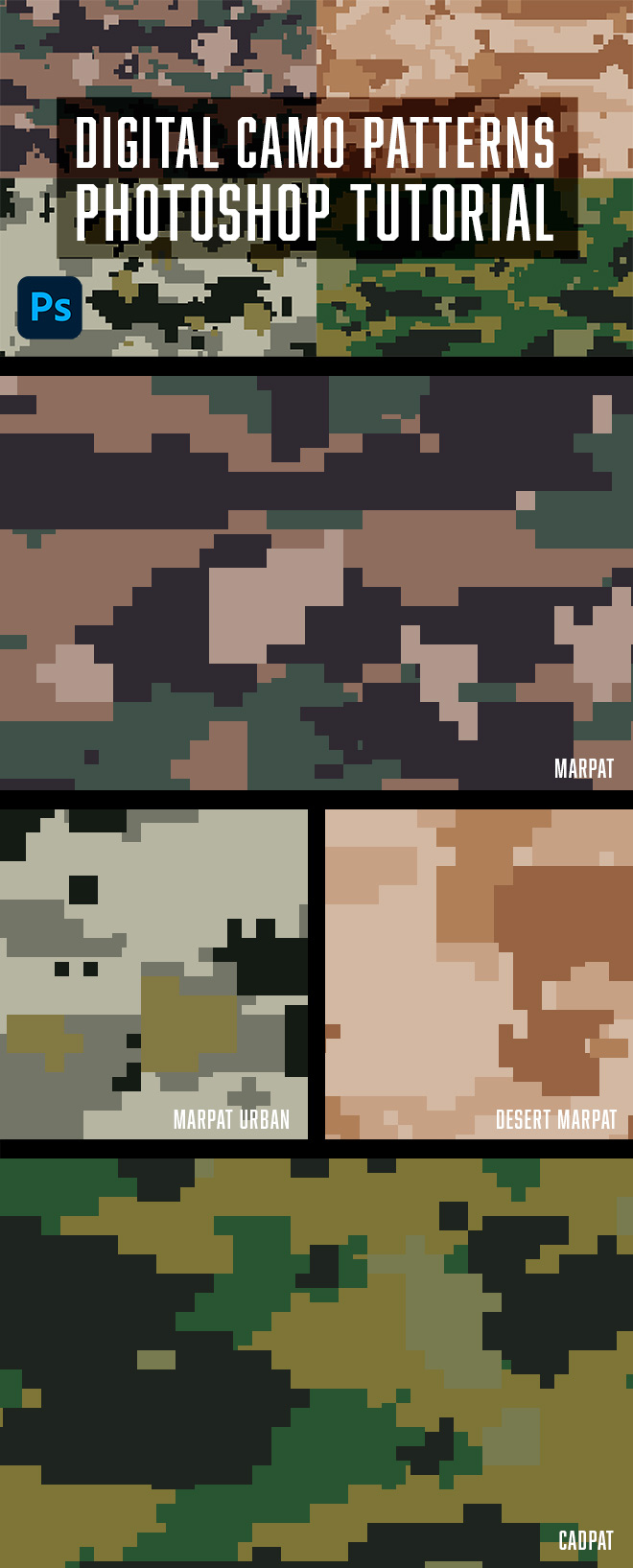 How to Make Digital Camo Patterns in Photoshop