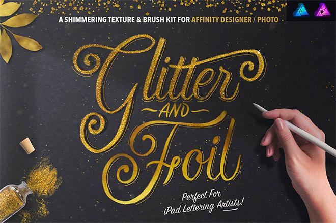 Glitter and Foil Kit for Affinity Designer