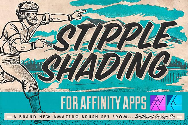 Stipple Shading Brushes for Affinity