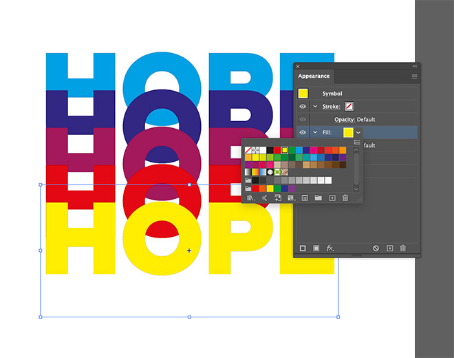 10 - How to Create a Colorful Retro-Style 'Rainbow' Text Effect in Adobe Illustrator