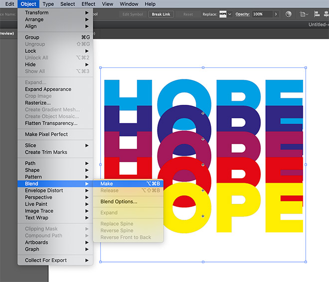 11 - How to Create a Colorful Retro-Style 'Rainbow' Text Effect in Adobe Illustrator