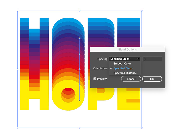 12 - How to Create a Colorful Retro-Style 'Rainbow' Text Effect in Adobe Illustrator