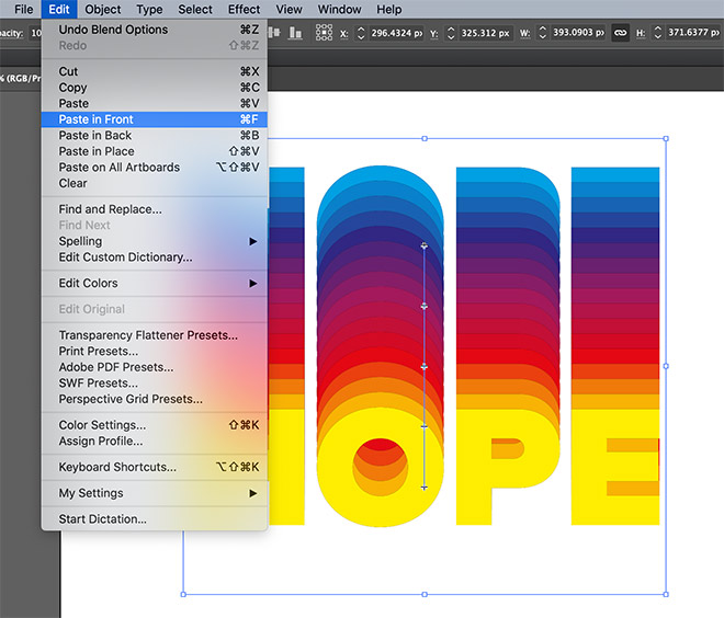 13 - How to Create a Colorful Retro-Style 'Rainbow' Text Effect in Adobe Illustrator