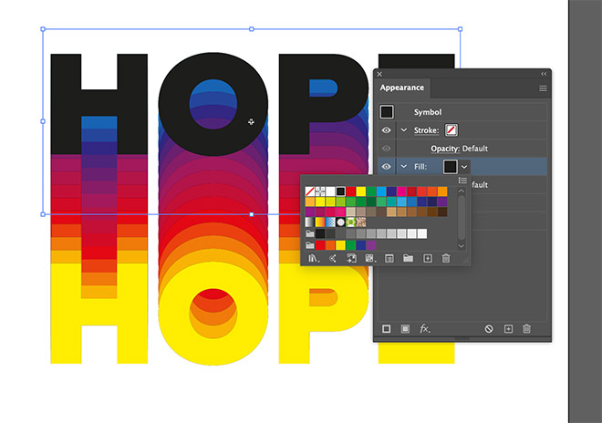 14 - How to Create a Colorful Retro-Style 'Rainbow' Text Effect in Adobe Illustrator