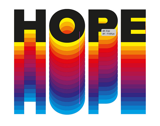 19 - How to Create a Colorful Retro-Style 'Rainbow' Text Effect in Adobe Illustrator