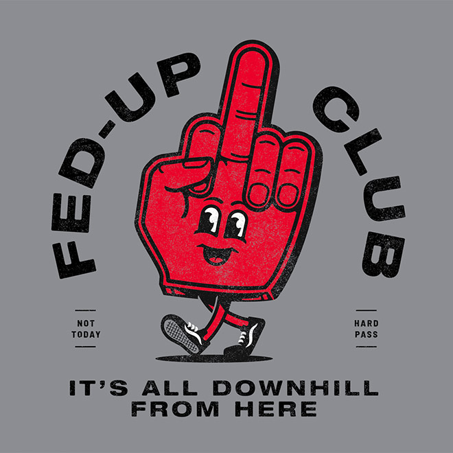 Fed-Up Club Mascot by Nader Boraie
