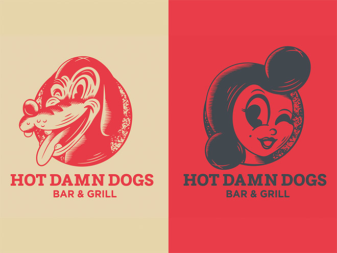 Hot Damn Dogs by Quwade