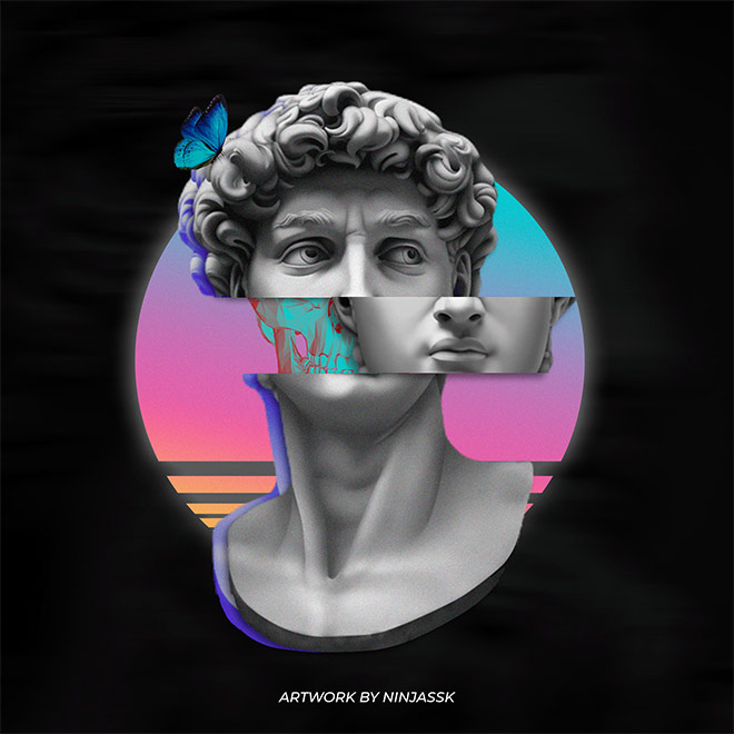 Greek Retrowave Aesthetic Artwork by Sunil Khatri