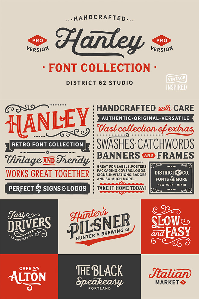 Hanley Pro Font Collection